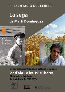 Read more about the article Presentació del llibre: La sega de Martí Domínguez