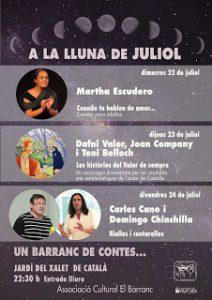 A la lluna de juliol 2015. Del 22 al 24 de juliol al Jardí del Xalet de Català de Paiporta