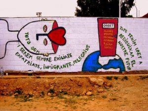 Jornada per la convivència. Restitució dels murals del camp del Palleter
