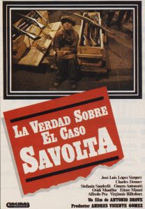 """Divendres 13 de novembre a les 20:00 h, a l'Auditori, projecció de la pel·licula """"La verdad sobre el caso Savolta"""""""