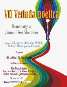 VII Vetlada Poètica. Homenatge a Jaume Perez Montaner