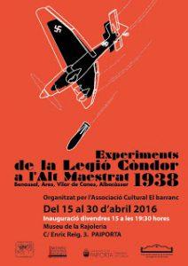 """Read more about the article – Exposició """" Experiments de la Legió Còndor a l'Alt Maestrat 1938, Benassal, Ares, Vilar de Canes i Albocàsser"""
